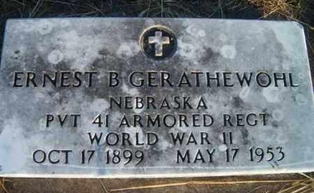 GERATHEWOHL, ERNEST B (MILITARY MARKER) - Dodge County, Nebraska | ERNEST B (MILITARY MARKER) GERATHEWOHL - Nebraska Gravestone Photos