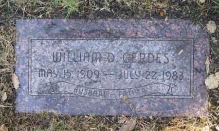GERDES, WILLIAM D. - Dodge County, Nebraska   WILLIAM D. GERDES - Nebraska Gravestone Photos
