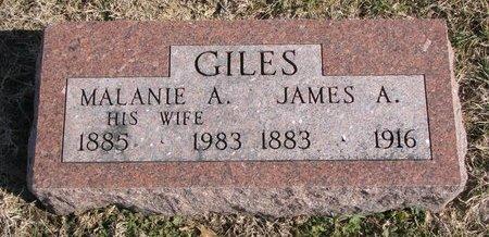 GILES, MALANIE ANNA - Dodge County, Nebraska | MALANIE ANNA GILES - Nebraska Gravestone Photos