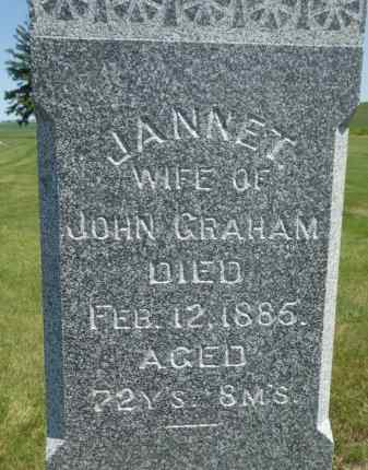 GRAHAM, JANNET - Dodge County, Nebraska | JANNET GRAHAM - Nebraska Gravestone Photos