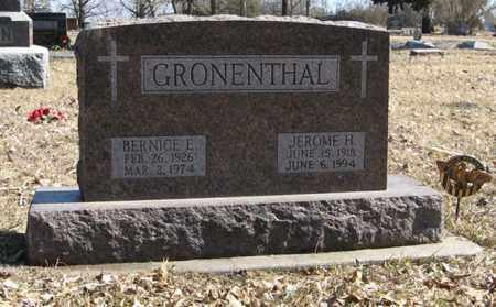 GRONENTHAL, BERNICE E. - Dodge County, Nebraska | BERNICE E. GRONENTHAL - Nebraska Gravestone Photos