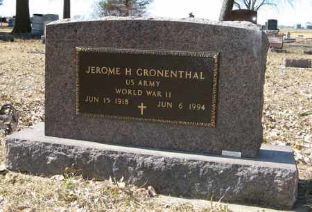 GRONENTHAL, JEROME H. (MILITARY MARKER) - Dodge County, Nebraska | JEROME H. (MILITARY MARKER) GRONENTHAL - Nebraska Gravestone Photos