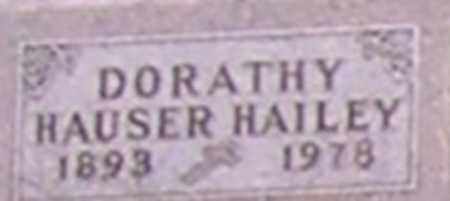 HAILEY, DORATHY - Dodge County, Nebraska | DORATHY HAILEY - Nebraska Gravestone Photos