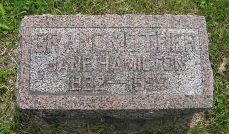 HAMILTON, JANE - Dodge County, Nebraska | JANE HAMILTON - Nebraska Gravestone Photos