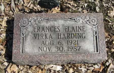 HARDING, FRANCES ELAINE - Dodge County, Nebraska | FRANCES ELAINE HARDING - Nebraska Gravestone Photos