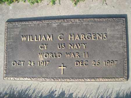 HARGENS, WILLIAM C. (MILITARY MARKER) - Dodge County, Nebraska   WILLIAM C. (MILITARY MARKER) HARGENS - Nebraska Gravestone Photos