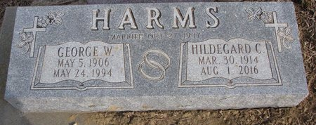 HARMS, HILDEGARD CHRISTINA - Dodge County, Nebraska | HILDEGARD CHRISTINA HARMS - Nebraska Gravestone Photos