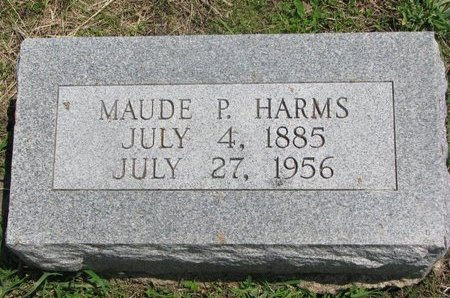 HARMS, MAUDE PEARL - Dodge County, Nebraska | MAUDE PEARL HARMS - Nebraska Gravestone Photos