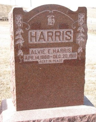 HARRIS, ALVIE E. - Dodge County, Nebraska | ALVIE E. HARRIS - Nebraska Gravestone Photos