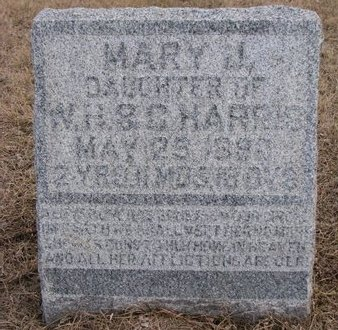 HARRIS, MARY J. - Dodge County, Nebraska | MARY J. HARRIS - Nebraska Gravestone Photos