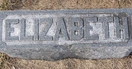 HARVIE, ELIZABETH (FOOTSTONE) - Dodge County, Nebraska   ELIZABETH (FOOTSTONE) HARVIE - Nebraska Gravestone Photos