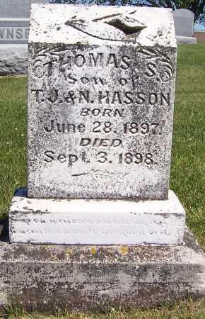 HASSON, THOMAS S. - Dodge County, Nebraska   THOMAS S. HASSON - Nebraska Gravestone Photos