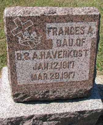 HAVERKOST, FRANCES A. - Dodge County, Nebraska | FRANCES A. HAVERKOST - Nebraska Gravestone Photos