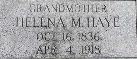 HAYE, HELENA - Dodge County, Nebraska | HELENA HAYE - Nebraska Gravestone Photos
