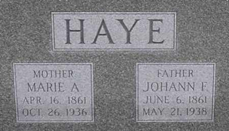 HAYE, MARIE - Dodge County, Nebraska | MARIE HAYE - Nebraska Gravestone Photos