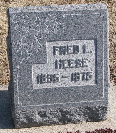 HEESE, FRED L. - Dodge County, Nebraska | FRED L. HEESE - Nebraska Gravestone Photos