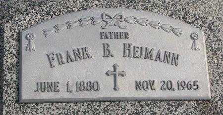 HEIMANN, FRANK B. - Dodge County, Nebraska | FRANK B. HEIMANN - Nebraska Gravestone Photos