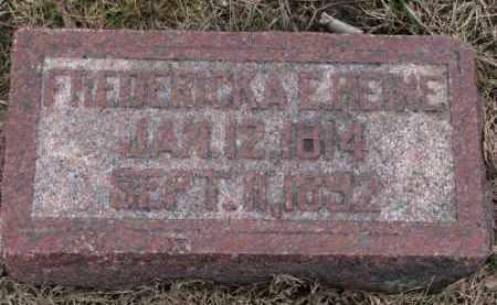 HEINE, FREDERICKA E. - Dodge County, Nebraska   FREDERICKA E. HEINE - Nebraska Gravestone Photos