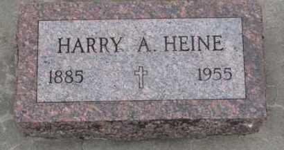 HEINE, HARRY A. - Dodge County, Nebraska   HARRY A. HEINE - Nebraska Gravestone Photos