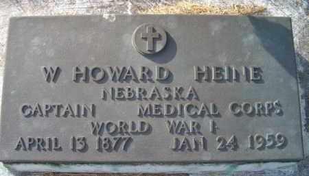 HEINE, W HOWARD (MILITARY MARKER) - Dodge County, Nebraska | W HOWARD (MILITARY MARKER) HEINE - Nebraska Gravestone Photos
