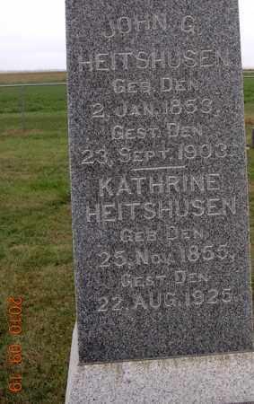 HEITSHUSEN, KATHRINE - Dodge County, Nebraska | KATHRINE HEITSHUSEN - Nebraska Gravestone Photos