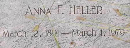 HELLER, ANNA - Dodge County, Nebraska | ANNA HELLER - Nebraska Gravestone Photos