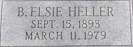 HELLER, B. ELSIE - Dodge County, Nebraska | B. ELSIE HELLER - Nebraska Gravestone Photos