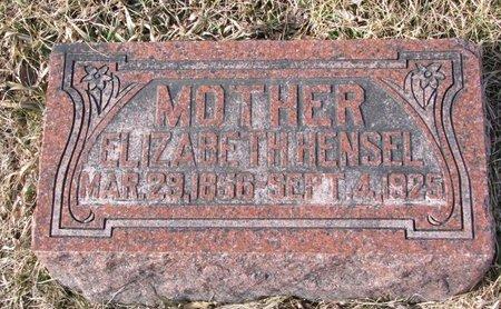 HENSEL, ELIZABETH - Dodge County, Nebraska   ELIZABETH HENSEL - Nebraska Gravestone Photos