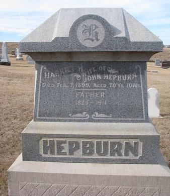 WELCHER HEPBURN, HARRIET H. - Dodge County, Nebraska | HARRIET H. WELCHER HEPBURN - Nebraska Gravestone Photos
