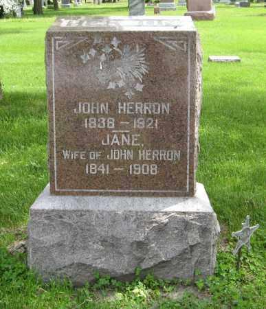 HERRON, JANE - Dodge County, Nebraska | JANE HERRON - Nebraska Gravestone Photos