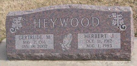 HEYWOOD, HERBERT J. - Dodge County, Nebraska | HERBERT J. HEYWOOD - Nebraska Gravestone Photos