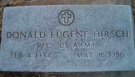 HIRSCH, DONALD EUGENE (MILITARY MARKER) - Dodge County, Nebraska | DONALD EUGENE (MILITARY MARKER) HIRSCH - Nebraska Gravestone Photos