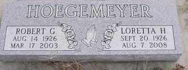 HOEGEMEYER, ROBERT G. - Dodge County, Nebraska | ROBERT G. HOEGEMEYER - Nebraska Gravestone Photos