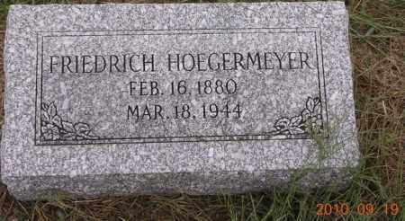 HOEGERMEYER, FRIEDRICH - Dodge County, Nebraska | FRIEDRICH HOEGERMEYER - Nebraska Gravestone Photos