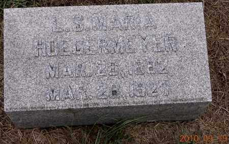 HOEGERMEYER, L S MARIA - Dodge County, Nebraska | L S MARIA HOEGERMEYER - Nebraska Gravestone Photos