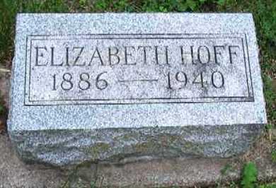 WILLIAMS HOFF, ELIZABETH - Dodge County, Nebraska | ELIZABETH WILLIAMS HOFF - Nebraska Gravestone Photos
