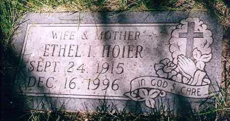 HOIER, ETHEL IRENE - Dodge County, Nebraska | ETHEL IRENE HOIER - Nebraska Gravestone Photos