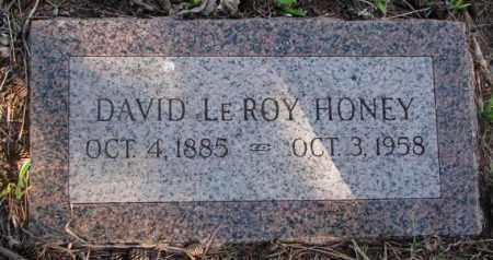 HONEY, DAVID LEROY - Dodge County, Nebraska | DAVID LEROY HONEY - Nebraska Gravestone Photos