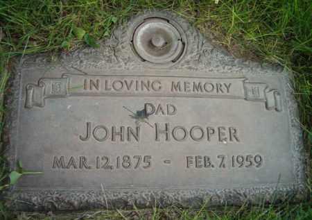 HOOPER, JOHN - Dodge County, Nebraska | JOHN HOOPER - Nebraska Gravestone Photos
