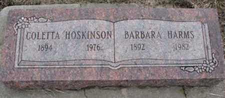 HARMS, BARBARA - Dodge County, Nebraska   BARBARA HARMS - Nebraska Gravestone Photos