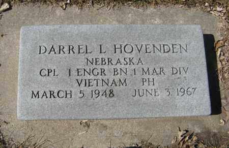 HOVENDEN, DARREL L. - Dodge County, Nebraska | DARREL L. HOVENDEN - Nebraska Gravestone Photos