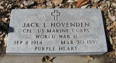 HOVENDEN, JACK L. - Dodge County, Nebraska | JACK L. HOVENDEN - Nebraska Gravestone Photos
