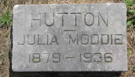 MOODIE HUTTON, JULIA - Dodge County, Nebraska | JULIA MOODIE HUTTON - Nebraska Gravestone Photos