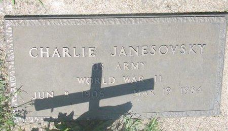 JANESOVSKY, CHARLIE - Dodge County, Nebraska | CHARLIE JANESOVSKY - Nebraska Gravestone Photos