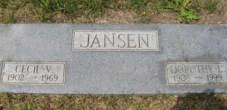JANSEN, CECIL V. - Dodge County, Nebraska | CECIL V. JANSEN - Nebraska Gravestone Photos