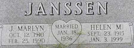 JANSSEN, HELEN - Dodge County, Nebraska | HELEN JANSSEN - Nebraska Gravestone Photos