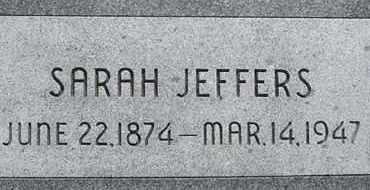 JEFFERS, SARAH - Dodge County, Nebraska | SARAH JEFFERS - Nebraska Gravestone Photos