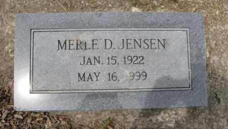 JENSEN, MERLE D. - Dodge County, Nebraska | MERLE D. JENSEN - Nebraska Gravestone Photos