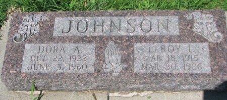 JOHNSON, LEROY L. - Dodge County, Nebraska   LEROY L. JOHNSON - Nebraska Gravestone Photos