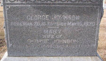 JOHNSON, GEORGE (CLOSE UP) - Dodge County, Nebraska | GEORGE (CLOSE UP) JOHNSON - Nebraska Gravestone Photos